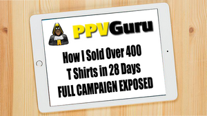 How I sold over 400 T Shirts in 28 days