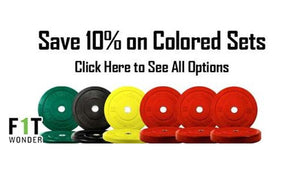 10% OFF OneFitWonder Colored Bumper Plates