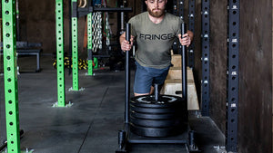 How much weight should you load on a prowler-type sled?