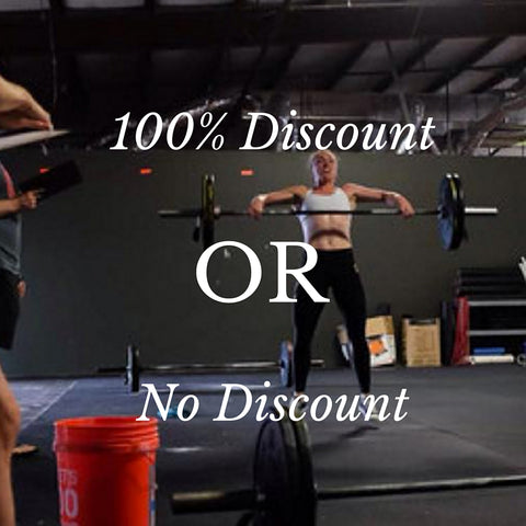 100% discount or no discount