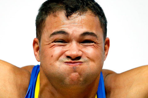 funny weightlifting face