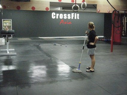mopping crossfit box