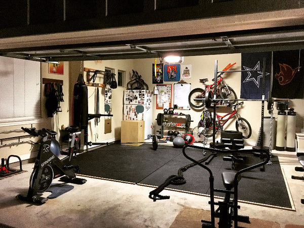 Garage gym of the week brad sarah davis