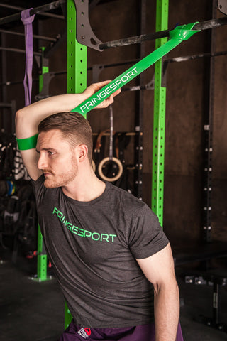 Strength Band Work for Tight Lats and Shoulders