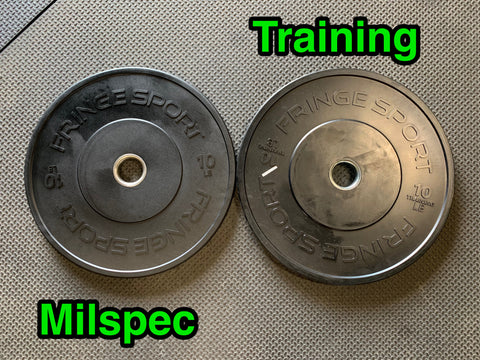 Milspec vs training bumper plates - whats the difference