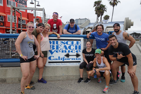 In town for the CrossFit Games, getting our Muscle Beach iso on
