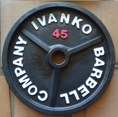 Ivanko vintage weight plate after refurb