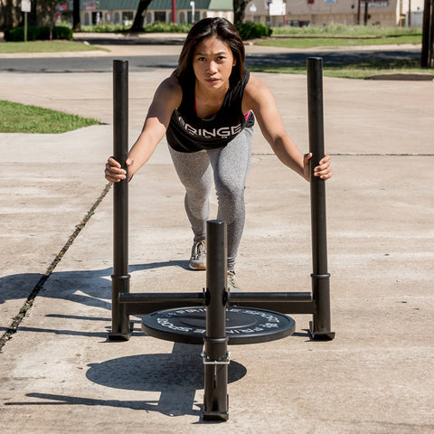 woman pushing prowler