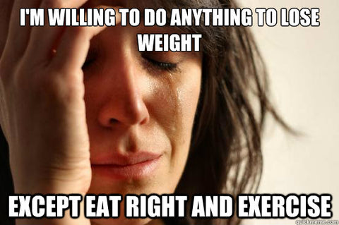 eat right and exercise meme