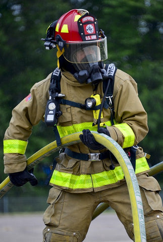 fireman with hose