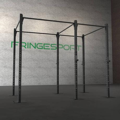 Freestanding pull-up rig installed into a concrete floor