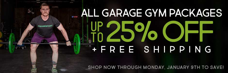 Garage gym packages for crossfit olympic weightlifting