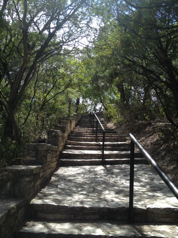 Mt Bonnell 9/11 Memorial Climb - stairs