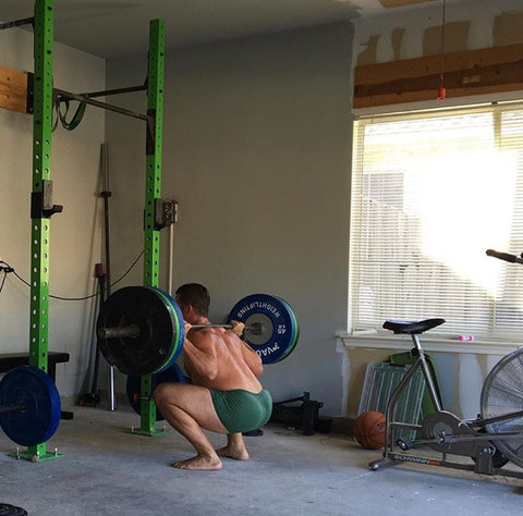 Peter Keller's Garage Gym- just the essentials