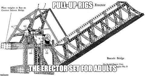 Pull-up rigs - the erector set for adults