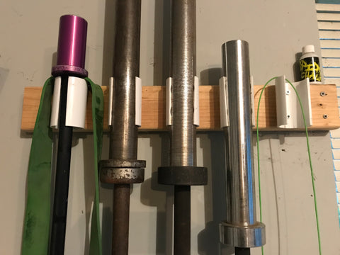 Essential barbells for a garage gym