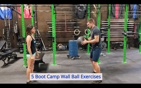 5 boot camp wall ball exercises