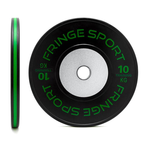 Black training competition plate 10kg green