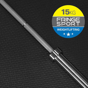 15kg Women's Olympic Weightlifting Bar by Fringe Sport - Pre-Order: Expected Ship Date by 9/8 (11523390468)
