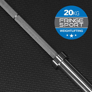 20kg Men's Olympic Weightlifting Bar by Fringe Sport - Pre-Order: Expected Ship Date by 9/8 (11522705924)