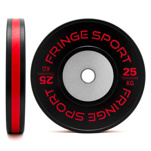 Black training competition plate 25kg red