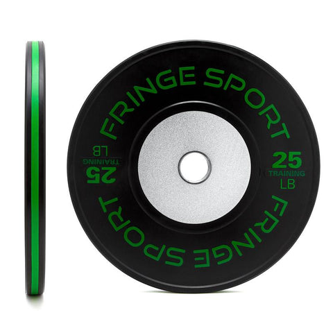 Black training competition plate 25lb green