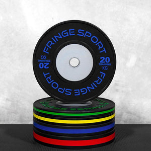 Black training competition plate kilos garage stack