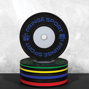 Black training competition plates garage stack