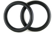 28mm Plastic Gymnastic Rings w/ Straps