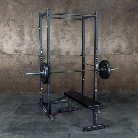 Squat rack with pullup bar for weightlifting training