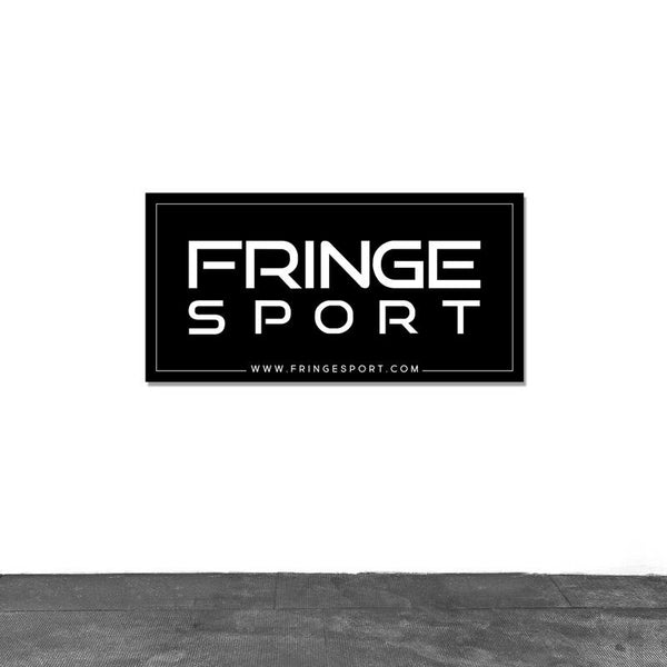 Fringesport banner for boxes and garage gyms