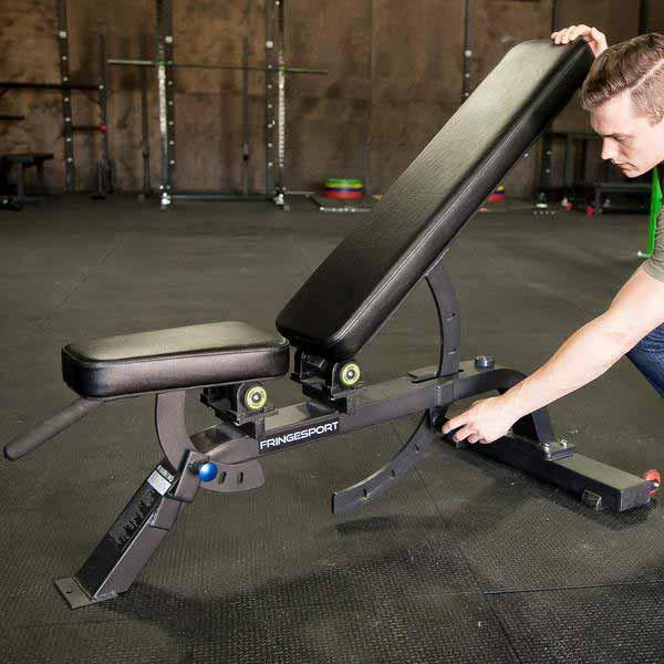 Adjustable gym bench by fringesport
