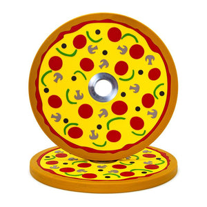 Pizza Bumper Plates (10lb Pair)