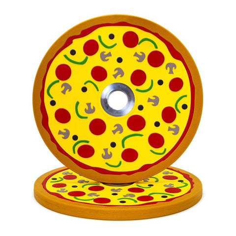 Pizza Bumper Plates (10lb Pair) (4373390753839)