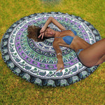 Summer Boho Style Mutifunction Hot Hippie Indian Mandala Beach Throw Towel Round Mat Boho Tapestry Yoga Mat