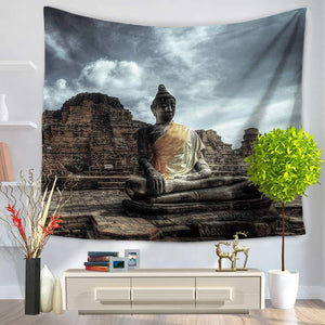Indian Mandala Tapestry Figure Of Buddha Printed Tapestry Wall Hanging Beach Throw Mat Hippie Bedspread Yoga Mat Blanket 3