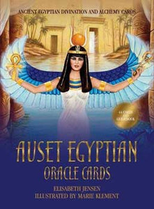 Auset Egyptian oracle cards by Jensen & Klement