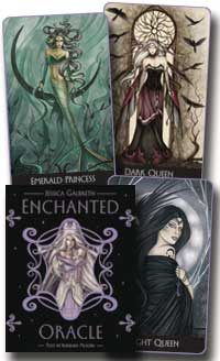 Enchanted Oracle deck and book by Barbara Moore & Jessica Galbreth