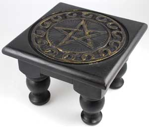 "6""x6"" Pentagram altar table"