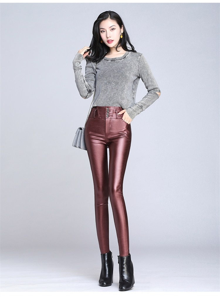 Bronze Metallic Leggings