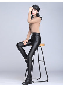 Metallic Black Leggings