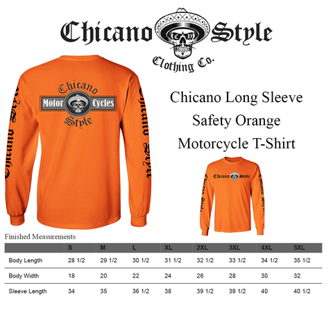 Chicano_Style_Motorcycles_Hi-Visibility_Safety_Orange_Long_Sleeve_Size Chart