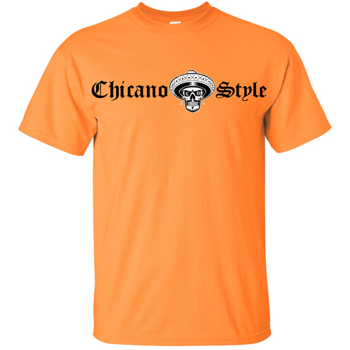 Chicano Style Classic Hi-Visibility Safety Orange T-Shirt