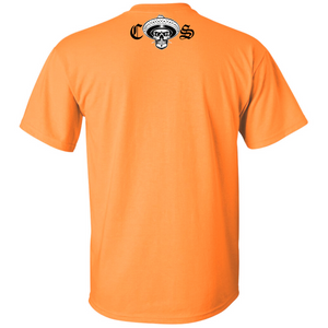 Chicano Style Classic Hi-Visibility Safety Orange T-Shirt back