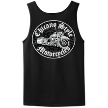 Load image into Gallery viewer, Chicano Style Motorcycles Throwback Black Tank Top