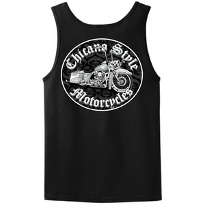 Chicano Style Motorcycles Throwback Black Tank Top