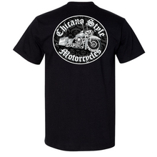 Load image into Gallery viewer, Chicano Style Motorcycles Throwback Limited Edition Black T-Shirt