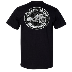 Chicano Style Motorcycles Throwback Limited Edition Black T-Shirt