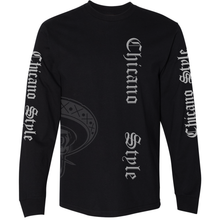 Load image into Gallery viewer, NEW Limited Edition Chicano Style Long Sleeve Black T-Shirt