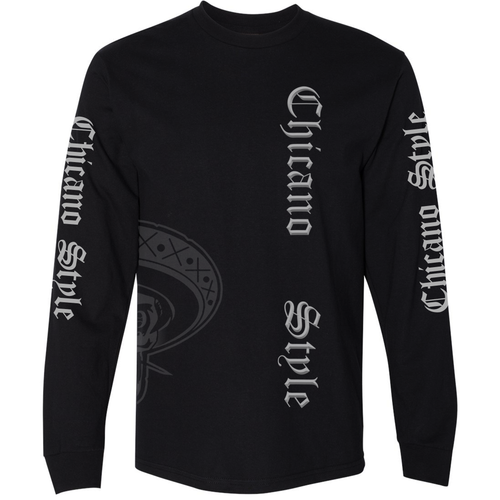 NEW Limited Edition Chicano Style Long Sleeve Black T-Shirt